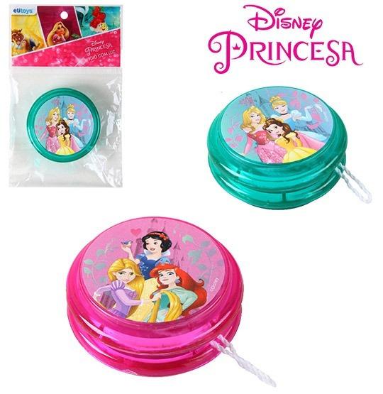 Kit 15 Ioio (yoyo) Com Luz De Plastico Princesas Colors