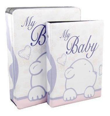 Album Para 40 Fotos 15x21 My Baby Com Estojo - Meu Bebê