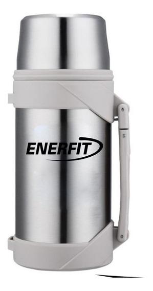 Termo 1,5 Litro Enerfit - Acero Inoxidable Pico Cebador Mate