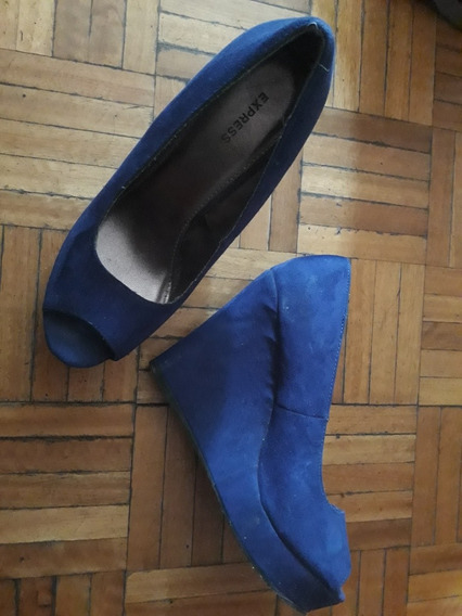 Zapatos Gamuza Plataforma