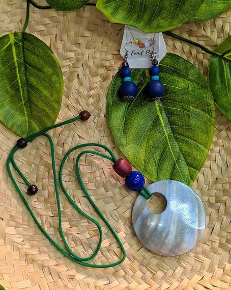 Colar Madrepérola Azul
