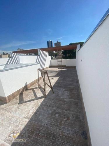 Cobertura Com 2 Dormitórios À Venda, 48 M² Por R$ 296.000,00 - Vila Alzira - Santo André/sp - Co0426