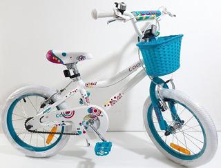 Bicicleta Rodado 16 Aluminio De Nena Cool