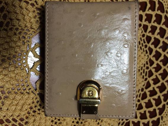 Porta Baton/isqueiro Couro Importado-c/espelho