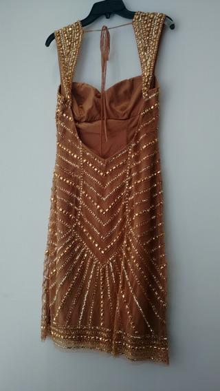 Vestido De Festa Curto Dourado