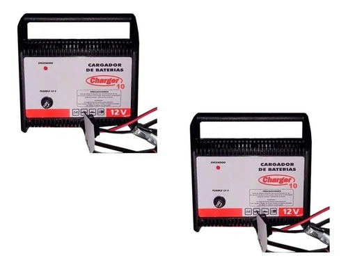 Cargador Batería Charger 10 De 12 Volts Carga 10 Amp Cuotas
