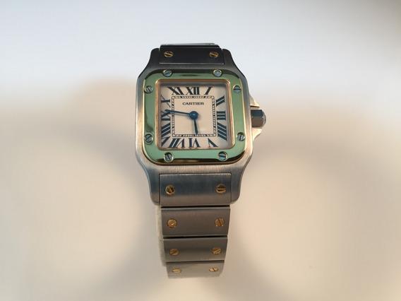 Cartier Santos Square Acero Oro Small Size 24 X 24 Mm Quartz