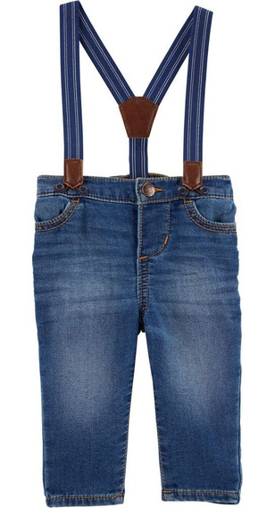 Pantalon Jean Bebe Niño Carters C/ Tirante Talla 24m $19