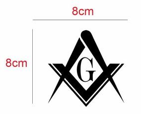 Adesivo Símbolo Maçonaria 8x8cm (5 Unidades)