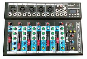 Mesa De Som Bluetooth 6 Canais Mixer Mp3 Player Digital Usb!