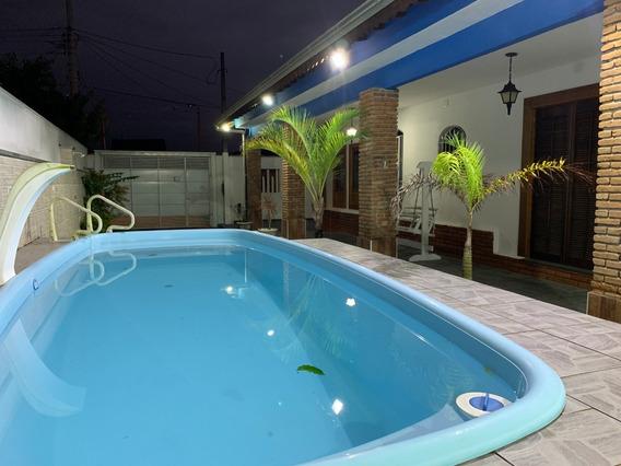 Linda Casa 3 Dorm, Piscina,churrasqueira B Jussara Mongaguá
