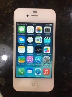 iPhone 4 Branco Usado Na Caixa C/ Nf - Apenas Bateria Com Defeito, Basta Trocar.