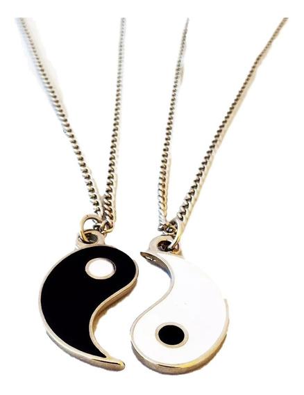 Colar Duplo Da Amizade Yin Yang - Namorados Duas Partes
