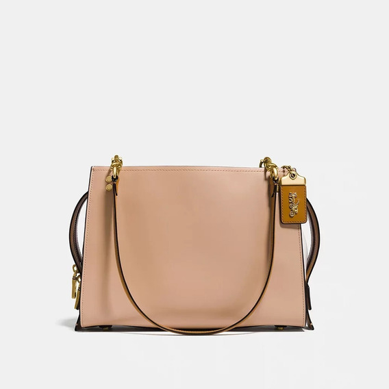 Bolsa Coach Rougue Shoulder- Nude