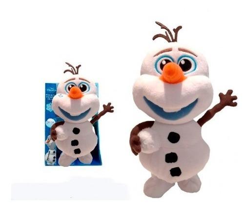 Peluche Interactivo Frozen Olaf Camina Habla Repite 25 Cm