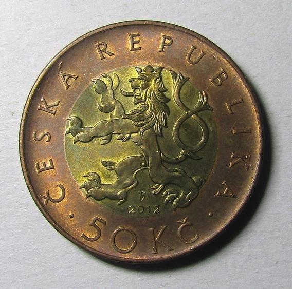 Republica Checa 50 Coronas Año 2012 Au Casi Sin Circular