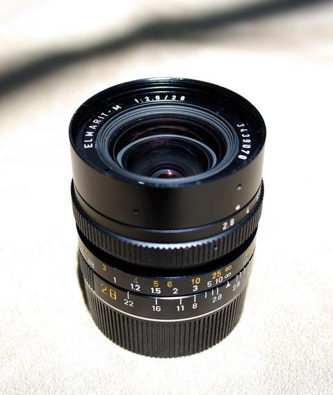 Leica - Objetiva Elmarit 28 Mm 2.8 Série M