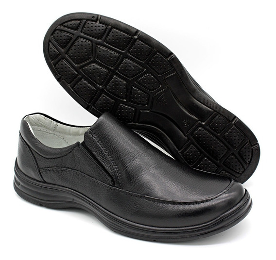 Sapato Masculino Ortopédico Com Palmilhas Em Gel 2711/1