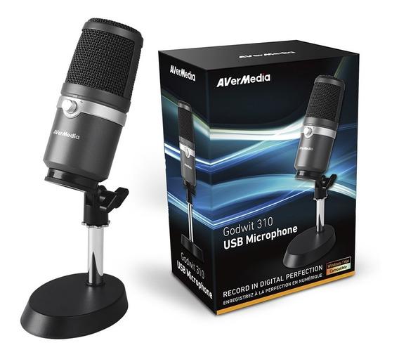 Microfone Usb Avermedia Am310 Cardióide Unidirecional