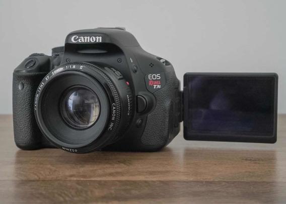 Câmera Cânon T3i + Lente 50mm 1.8