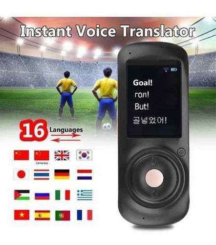 Traductor Instantáneo Con Voz Inteligente 2.4 Pulgadas