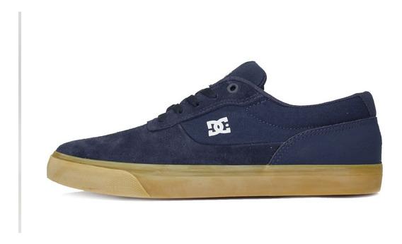 Tênis Dc Shoes Skate Switch Azul Marinho/caramelo Promoção