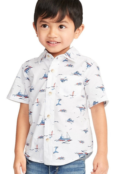 Camisa Niño Bebé Manga Corta Estampada 390638 Old Navy