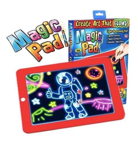 Magic Pad Original: Pizarra Led Dibujo Mágico + Accesorios