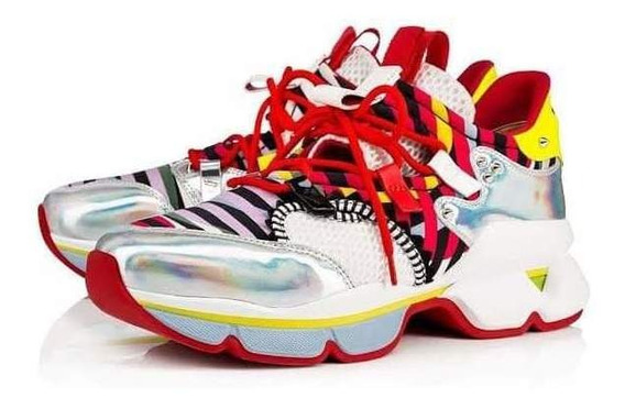 Tenis Christian Loboutin Red Runner Multicolor