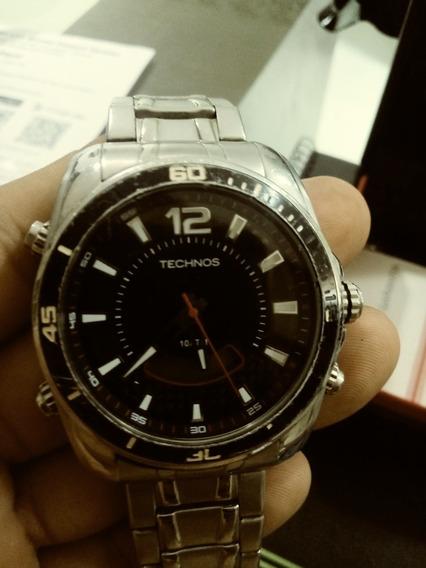 Relógio Tecnos Pouco Usado, Com Caixa, Termo De Garantia