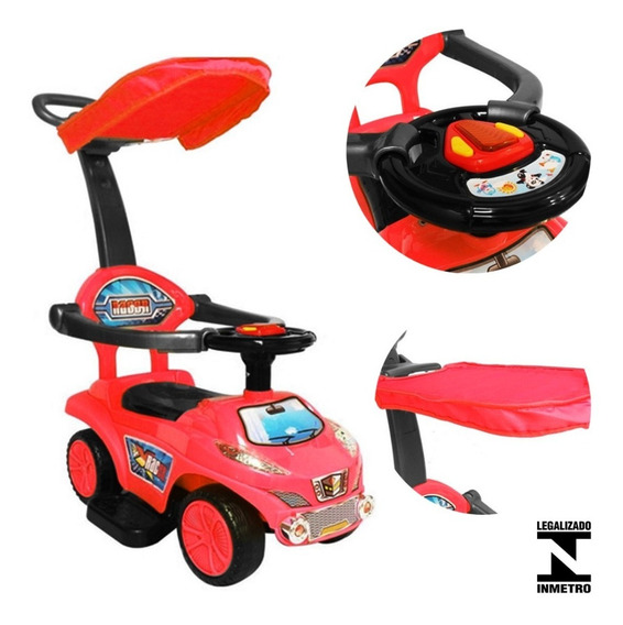 Carro Infantil Para Passear Com Empurrador Bw060 Importway