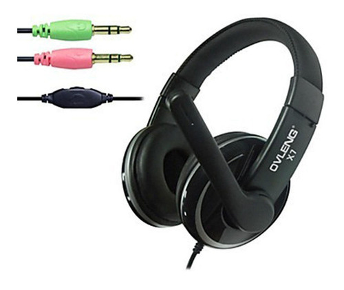Headset Over Ear Audifono Microfono Gamer Ovleng X7