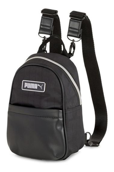 Puma Mochila Mini Prime Classic Negra Moda - Mujer