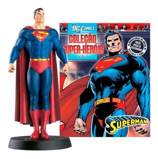 Superman Miniatura Metálica Original Com Revista