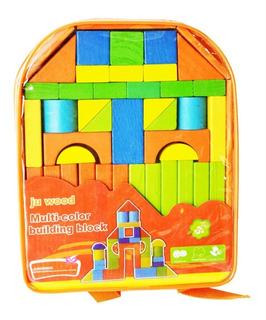 Bloques Cubos Madera Juegos Didácticos Infantiles Niño Bebe