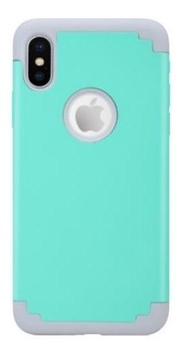 Icase - Carcasa Extreme Turquesa / Gris - iPhone X