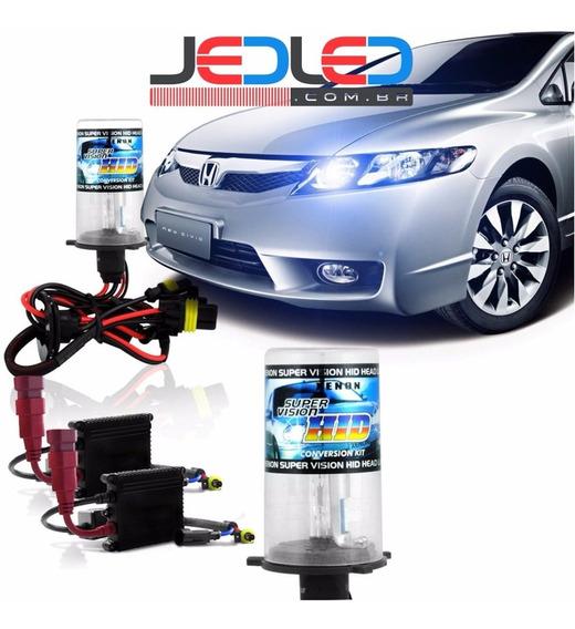 Kit Xenon Lampada Milha H11 4300k Civic + Kit Led