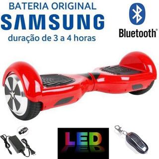 Hoverboard Bluetooth Com Led Bolsa E Controle De Alarme