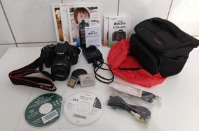 Camera Canon Dslr T3i 5382 Cliques Lente 18-55mm Acessórios
