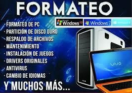 Formateos, Instalaciones, Reparacion De Pc Y Laptops.