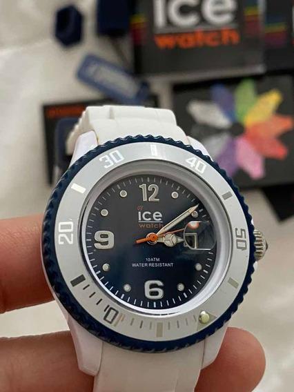 Relógio Ice Watch Branco Swarovski Original Muito Novo