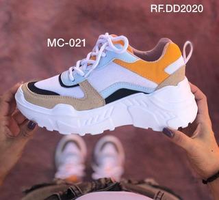 Zapatos Tenis Plataformas Para Dama