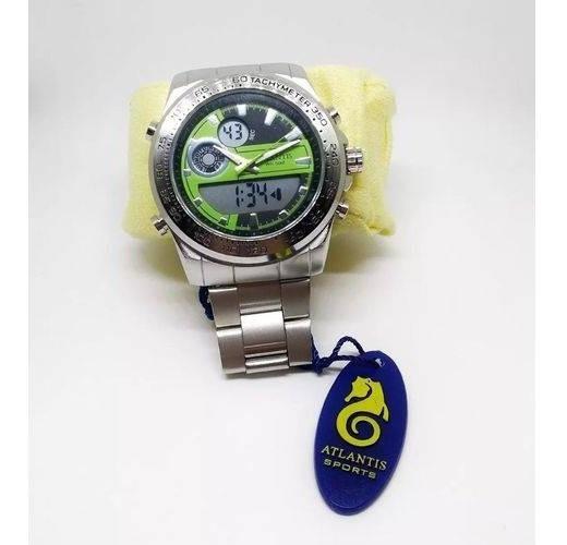 Relógio Masculino Prata Atlantis G3226 Original