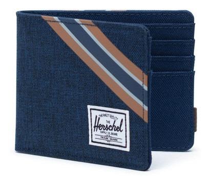 Billetera Hombre Herschel Roy Rfid Medieval Blue