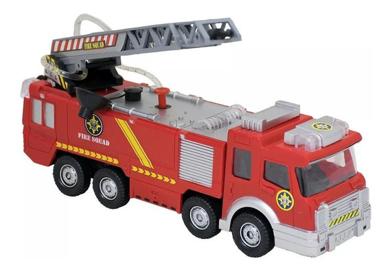 Caminhão De Bombeiros Lança Água Carrinho Infantil