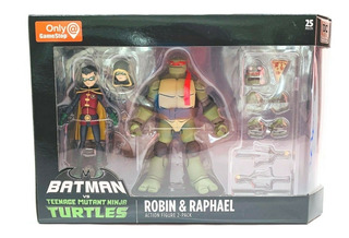 Batman Vs Tmnt - Robin Y Rafael Gamestop Exclusivo
