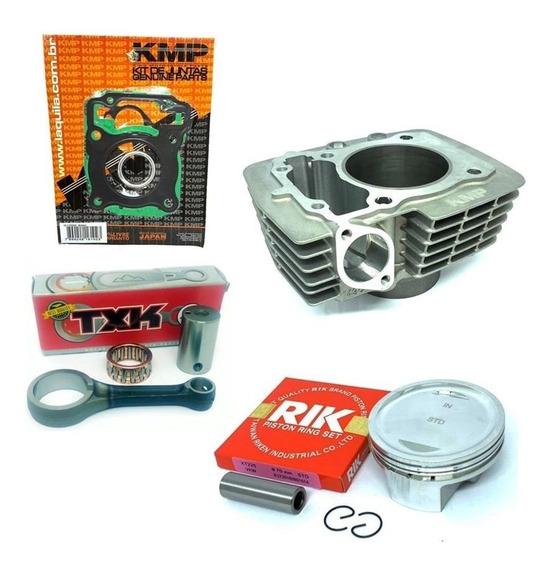 Kit Cilindro Completo Premium Kmp Cg 125 P/ 190cc Anéis Rik