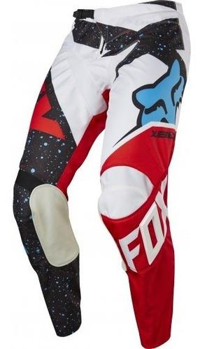 Pantalon Cross Fox Yth  Fox 180 Nirv Rojo/blanco
