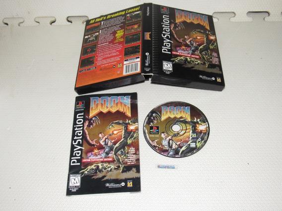 Doom Original Playstation One Long Box Completo
