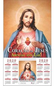 Folhinha Sagrado Coração De Jesus Com Bloco Diário 2020